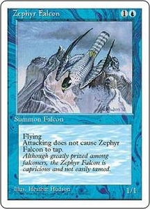 Magic the Gathering Fourth Edition Single Card Common Zephyr Falcon