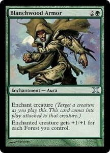 Magic the Gathering Tenth Edition Single Card Uncommon #253 Blanchwood Armor