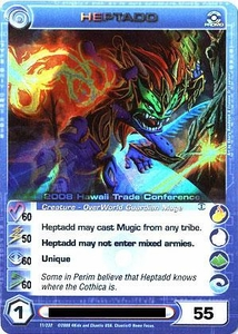 Chaotic Trading Card Game Dawn of Perim OverWorld Creature Single Card PROMO #11 Heptadd