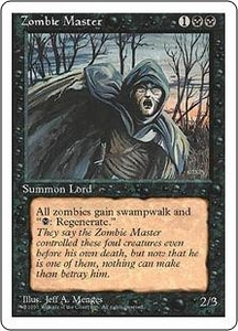 Magic the Gathering Fourth Edition Single Card Rare Zombie Master Slightly Played
