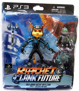 DC Direct Ratchet and Clank Future Series 2 Action Figure Holo Armor Ratchet with Clank