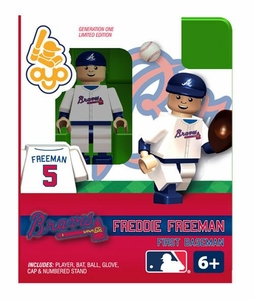 OYO Baseball MLB Building Brick Minifigure Freddie Freeman [Atlanta Braves]
