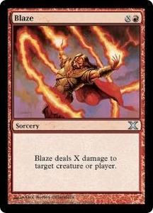 Magic the Gathering Tenth Edition Single Card Uncommon #190 Blaze