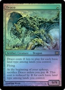Magic the Gathering From the Vault: Dragons Single Card Rare #3 Draco [Foil] Alternate Art!