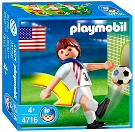 Playmobil Soccer Player Set #4716 USA
