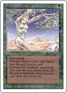 Magic the Gathering Revised Edition Single Card Common Shanodin Dryads