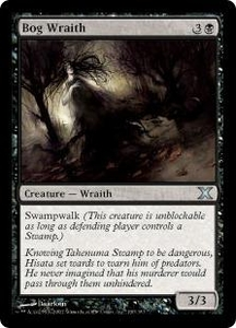 Magic the Gathering Tenth Edition Single Card Uncommon #130 Bog Wraith