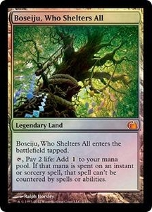 Magic: The Gathering From the Vault: Realms Single Card Land Mythic Rare #2 Boseiju, Who Shelters All