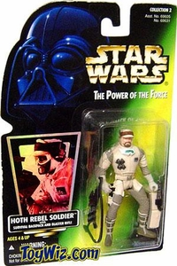 Star Wars POTF2 Power of the Force Hologram Card Hoth Rebel Soldier w/ Survival Backpack and Blaster Rifle