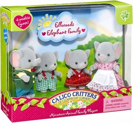 Calico Critters Miniature Animal Family Playset Ellwoods Elephant Family