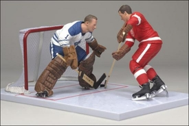 McFarlane Toys NHL Sports Picks Canada Exclusive Action Figure 2-Pack Gordie Howe (Detroit Red Wings) & Johnny Bower (Toronto Maple Leafs)