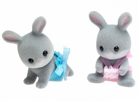 Calico Critters Minifigure 2-Pack Cottontail Rabbit Twins