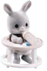 Calico Critters Minifigure Baby Carry Case Rabbit in Walker