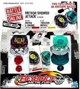 Beyblades Metal Fusion 2-Pack Meteor Shower Attack