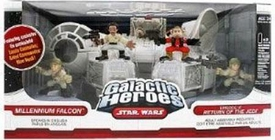 Star Wars Galactic Heroes Deluxe Cinema Scene Mini Figure Multi Pack Millenium Falcon
