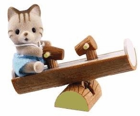 Calico Critters Minifigure Baby Carry Case Cat on Seesaw