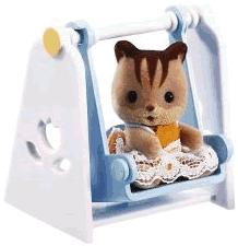 Calico Critters Minifigure Baby Carry Case Cat on Swing