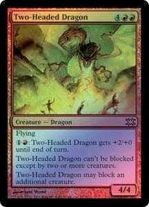 Magic the Gathering From the Vault: Dragons Single Card Rare #15 Two-Headed Dragon [Foil] Alternate Art!