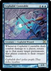 Magic the Gathering Tenth Edition Single Card Rare #72 Cephalid Constable