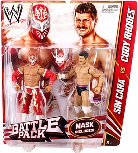 Mattel WWE Wrestling Basic Series 23 Action Figure 2-Pack Sin Cara & Cody Rhodes