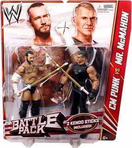 Mattel WWE Wrestling Basic Series 23 Action Figure 2-Pack CM Punk & Vince McMahon