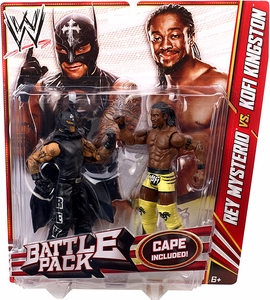 Mattel WWE Wrestling Basic Series 23 Action Figure 2-Pack Rey Mysterio & Kofi Kingston