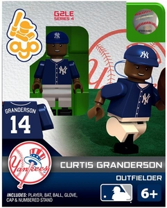 OYO Baseball MLB Generation 2 Building Brick Minifigure Curtis Granderson [New York Yankees]