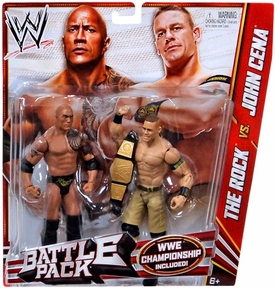 Mattel WWE Wrestling Basic Series 24 Action Figure 2-Pack Rock & John Cena