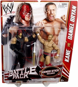 Mattel WWE Wrestling Basic Series 21 Action Figure 2-Pack Daniel Bryan & Kane [Kendo Stick!]