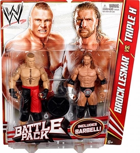 Mattel WWE Wrestling Basic Series 20 Action Figure 2-Pack Brock Lesnar & Triple H [Barbell!]