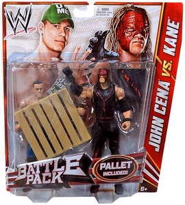 Mattel WWE Wrestling Basic Series 19 Action Figure 2-Pack John Cena & Kane with Mask [Pallet!]