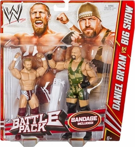 Mattel WWE Wrestling Basic Series 19 Action Figure 2-Pack Daniel Bryan & Big Show [Bandage!]