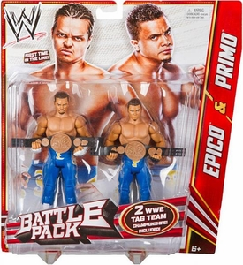 Mattel WWE Wrestling Basic Series 19 Action Figure 2-Pack Epico & Primo [WWE Tag Team Championship Belts!] Los Matadores!