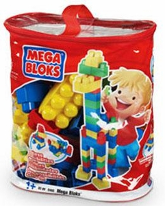 Mega Bloks Set #8468 80 Piece Imagination Bag [Classic Colors]