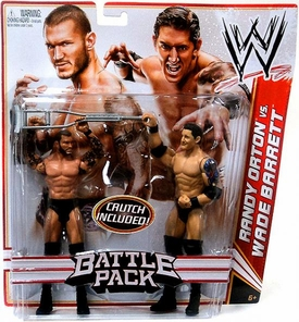 Mattel WWE Wrestling Basic Series 18 Action Figure 2-Pack Randy Orton & Wade Barrett [Crutch!]
