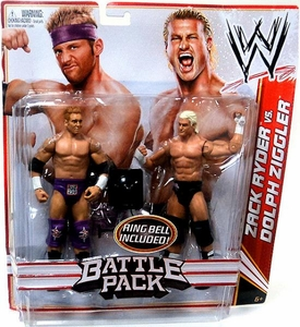 Mattel WWE Wrestling Basic Series 18 Action Figure 2-Pack Zack Ryder & Dolph Ziggler [Ring Bell!]