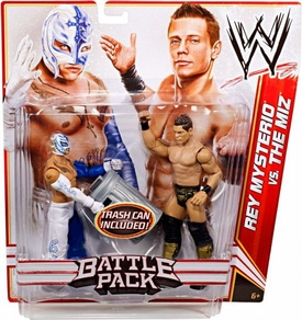 Mattel WWE Wrestling Basic Series 17 Action Figure 2-Pack Miz & Rey Mysterio [Trash Can!]