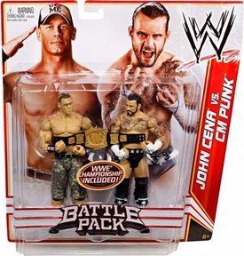 Mattel WWE Wrestling Basic Series 17 Action Figure 2-Pack John Cena & CM Punk [WWE Championship Belt!]