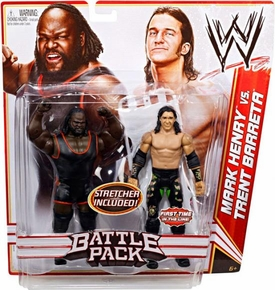 Mattel WWE Wrestling Basic Series 17 Action Figure 2-Pack Mark Henry & Trent Barreta [Stretcher!]