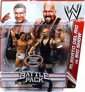 Mattel WWE Wrestling Basic Series 16 Action Figure 2-Pack Alberto Del Rio & Big Show [Folding Chair!]