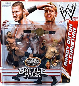 Mattel WWE Wrestling Basic Series 16 Action Figure 2-Pack Randy Orton & Christian [World Heavyweight Championship Belt!]