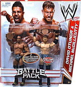 Mattel WWE Wrestling Basic Series 16 Action Figure 2-Pack David Otunga & Michael McGillicutty {Curtis Axel} [2 Tag Team Championship Belts!] BLOWOUT SALE!