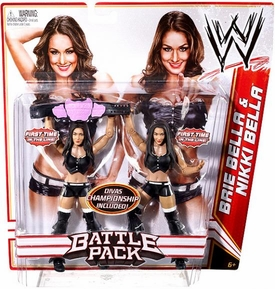 Mattel WWE Wrestling Basic Series 15 Action Figure 2-Pack Brie & Nikki Bella [Divas Championship Belt!]