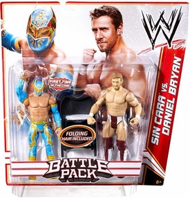 Mattel WWE Wrestling Basic Series 15 Action Figure 2-Pack Sin Cara & Daniel Bryan [Folding Chair!]