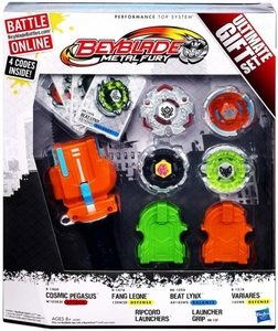 Beyblades Metal FURY Exclusive Ultimate Gift Set [Beat Lynx, Cosmic Pegasus, Variares & Fang Leone]