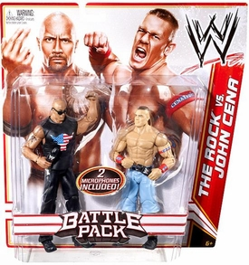 Mattel WWE Wrestling Basic Series 15 Action Figure 2-Pack The Rock & John Cena [2 Microphones!]