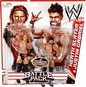 Mattel WWE Wrestling Basic Series 14 Action Figure 2-Pack Heath Slater & Justin Gabriel [Tag Team Championship Belts!]