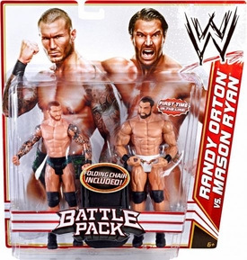 Mattel WWE Wrestling Basic Series 14 Action Figure 2-Pack Randy Orton & Mason Ryan
