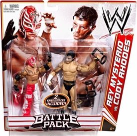 Mattel WWE Wrestling Basic Series 13 Action Figure 2-Pack Rey Mysterio & Cody Rhodes {Grotesque} BLOWOUT SALE!
