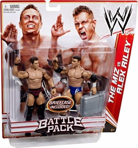 Mattel WWE Wrestling Basic Series 13 Action Figure 2-Pack The Miz & Alex Riley